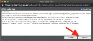 HTML Code View Update